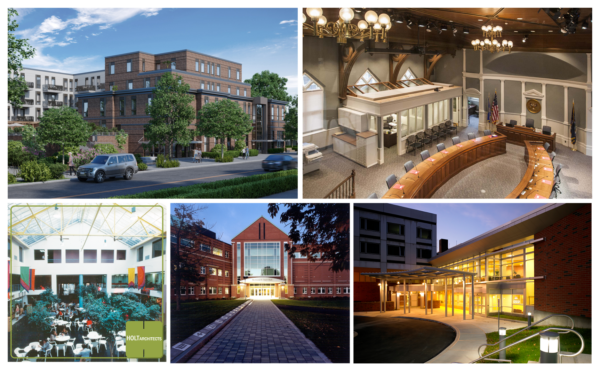 Compilation of images depicting Graham Gillespie's 39 year career at HOLT Architects