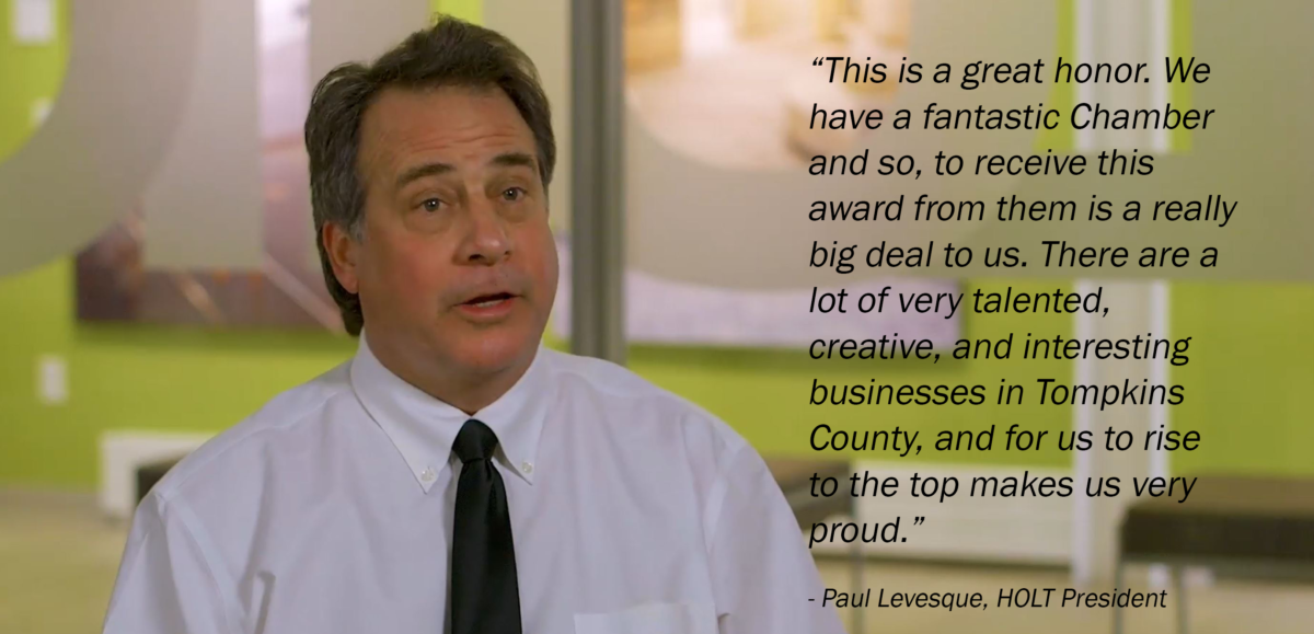 HOLT's President Paul Levesque on winning the chamber award: