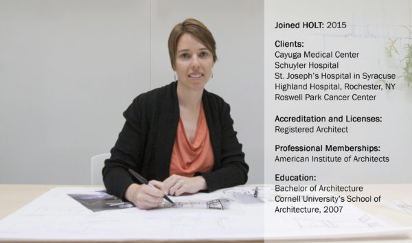 Photo of architect and new associate Kelly Maher